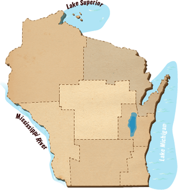 Regions of Wisconsin Map