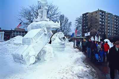 Annual U.S. National Snow Sculpting Competition | Photo Credit: Donald S. Abrams
