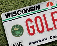 Golf WI License Plate