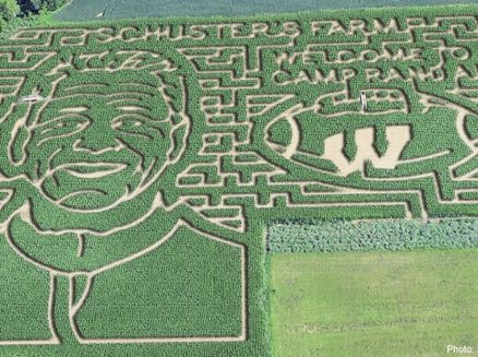 Image for Wisconsin Football Coach Gary Andersen gets a Corn-maze-ing Welcome
