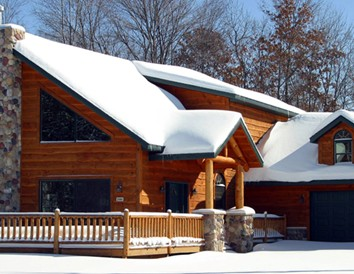Wintertime Trailside Lodging in Wisconsin