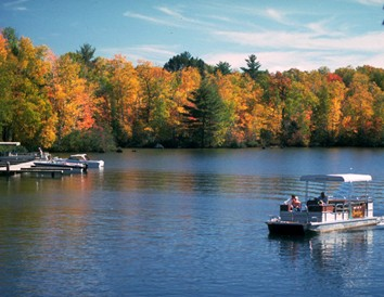 Experience Fall Color from a Boat