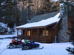 Image for Three Eagle River Cabins for Winter Fun