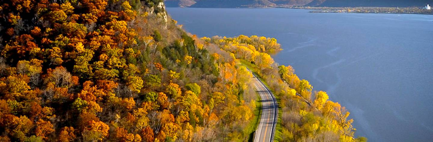 Great River Road in Wisconsin, View From Maiden Rock Bluff | Photo Credit: Photo: Jay Olson-Goude