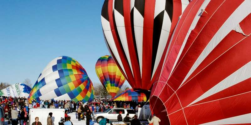 Spectacular hot air balloons are on display at Hudson's Hot Air Affair.