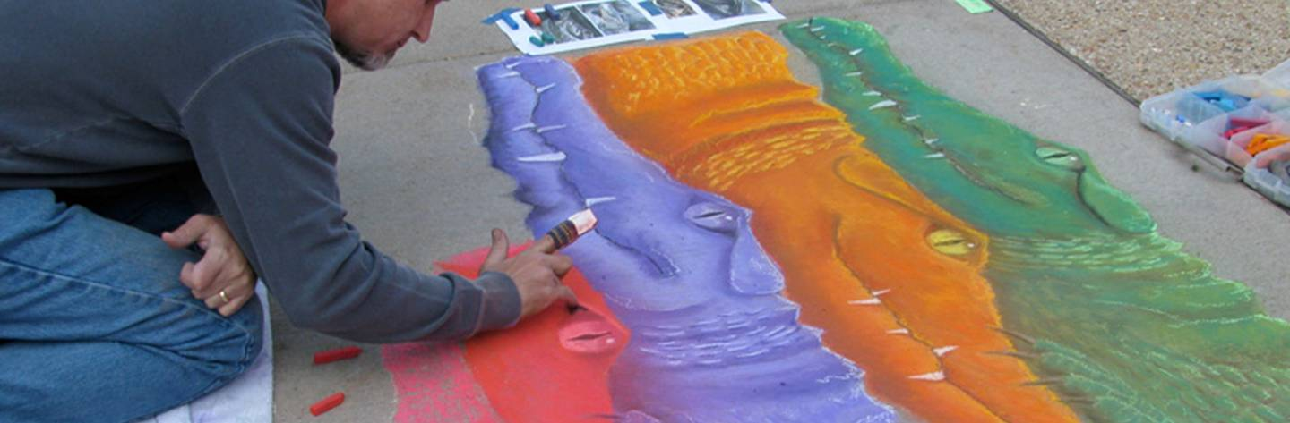 The Art Infusion  includes a chalk art competition for all ages.