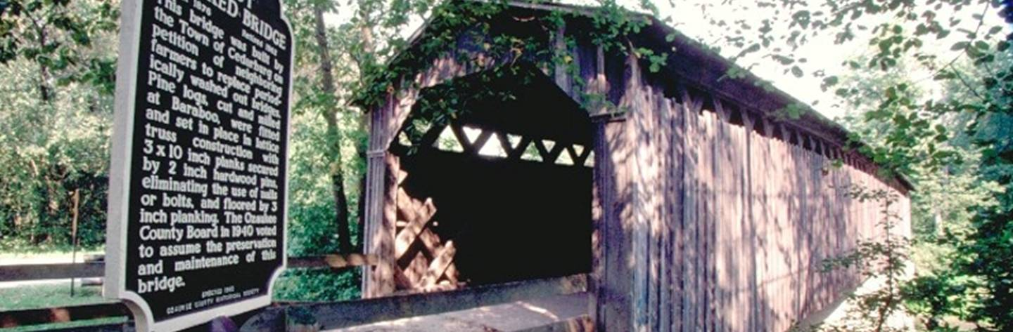 Cedarburg is home to Wisconsin's only remaining original covered bridge.