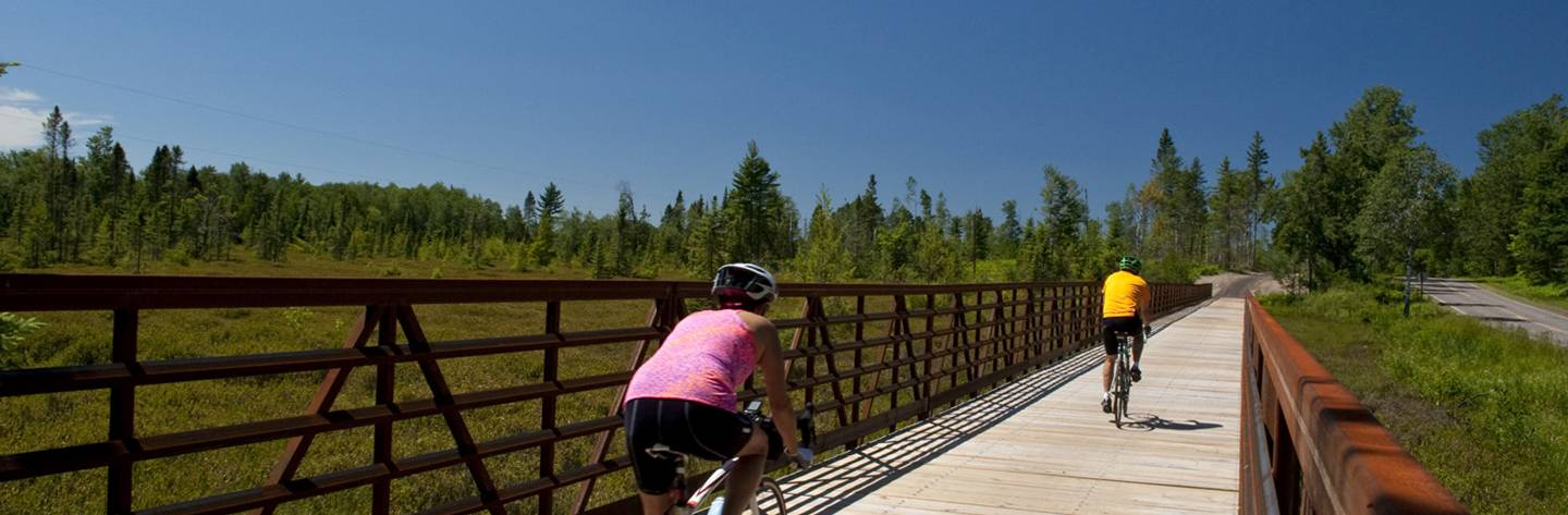 Heart of Vilas Bike Trail offers over 45 miles of paved bike trails