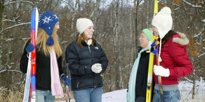 Eau Claire is a great place to enjoy outdoor winter fun with friends.