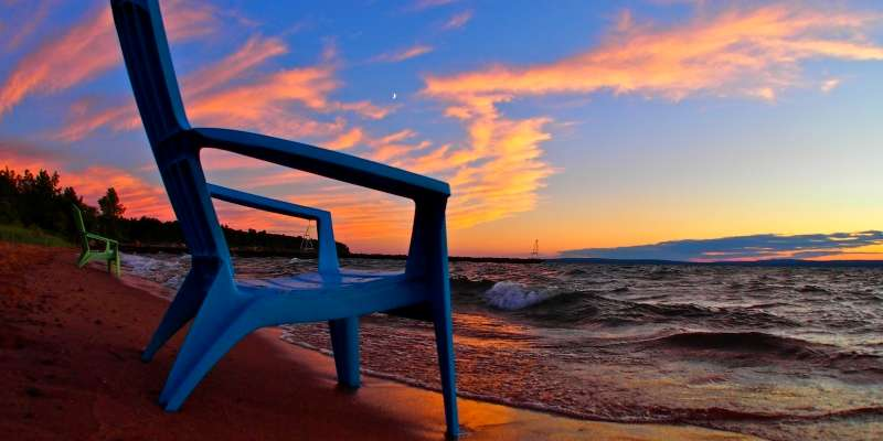 A breathtaking sunset over Lake Superior.