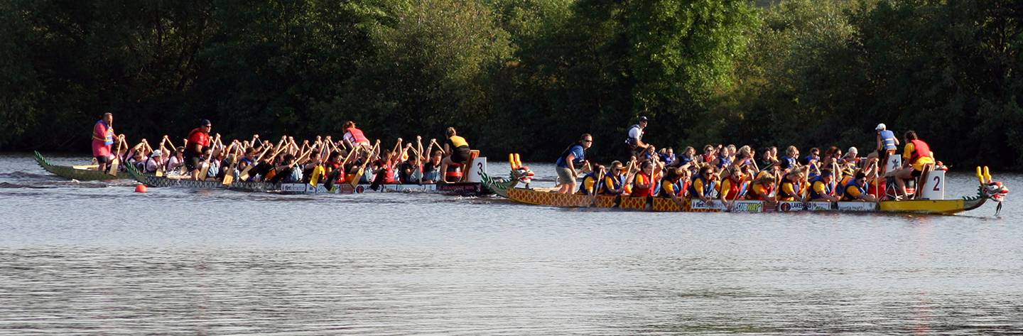 Each year the Lake Superior Dragon Boat Festival draws nearly 100 teams and hundreds of spectators to Barker's Island on Lake Superior.