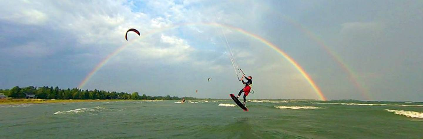 Catch some air on a kite board or simply swim in the crystal clear waters of Lake Michigan in our harbor