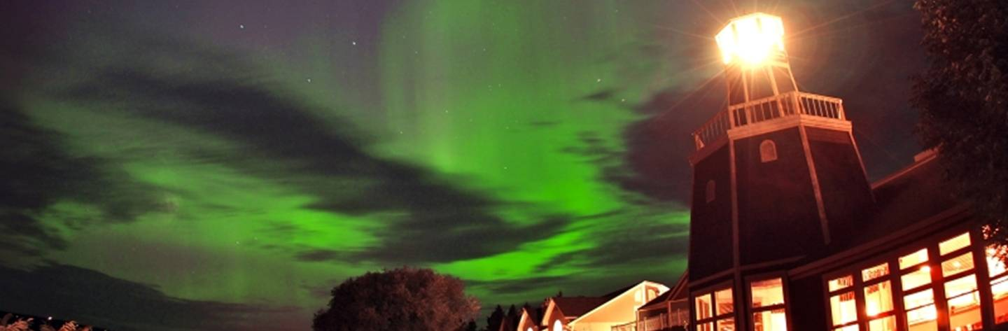Spectators have a unique opportunity to see the northern lights dazzle the sky above Madeline Island.