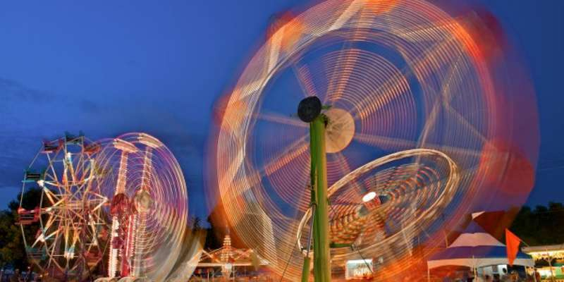 William Schneider snapped this picture of carnival rides in motion at Booster Days.