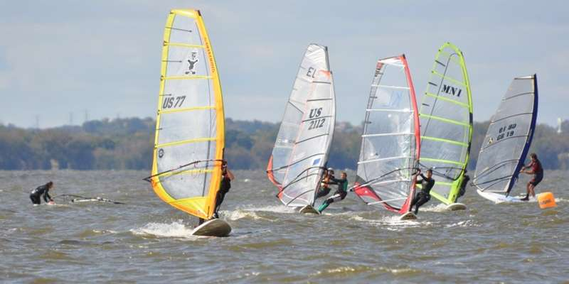 Windsurfing is a popular activity on Lake Winnebago.