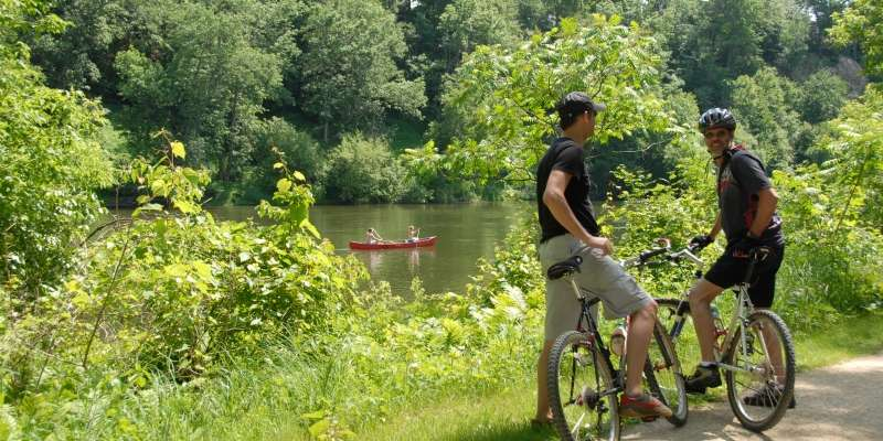 The popular Red Cedar State Trail has lured many with its peaceful surroundings for decades.