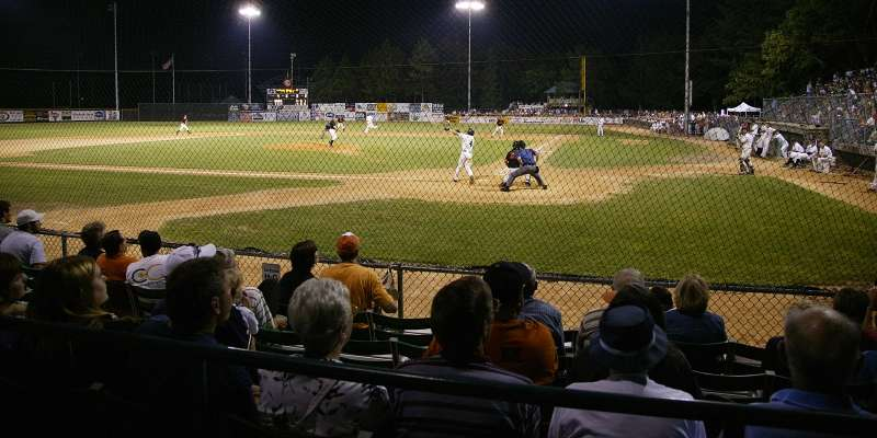 Fans take in an evening Eau Claire Express game at Carson Park.