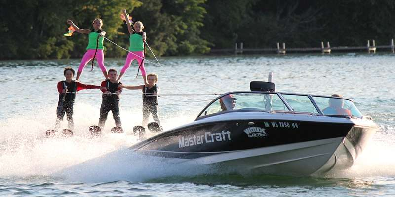 Chain Skiers water ski show on Saturday evenings during the summer