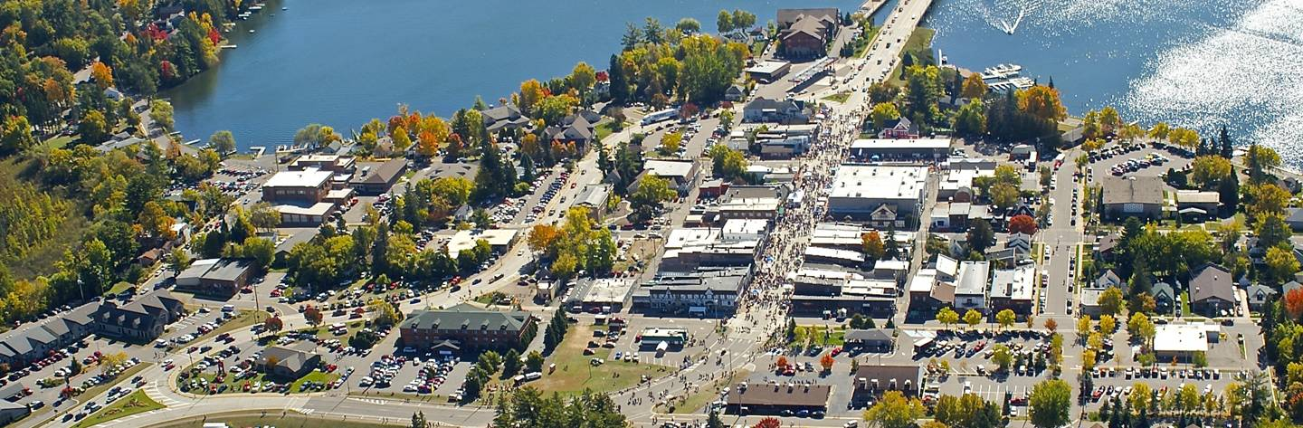 An aerial shot captures Beef-A-Rama featuring Beef Cook-offs, live music and other tasty treats.