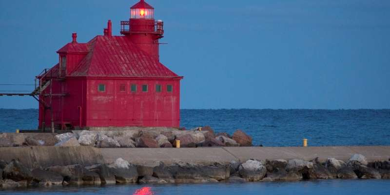 Built in 1899 and automated in 1972, the Sturgeon Bay Canal Station Lighthouse is an active US Coast Guard Station.