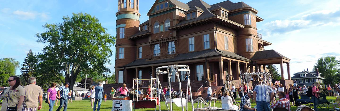 Built in 1889, Fairlawn Mansion exhibits recall the elegance and prosperity of Superior's early boomtown days, as well as the mansion's unique 42 years as a children's home.