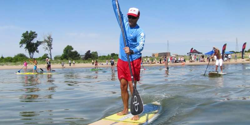 Stand up paddle boards are all the craze in Sheboygan.