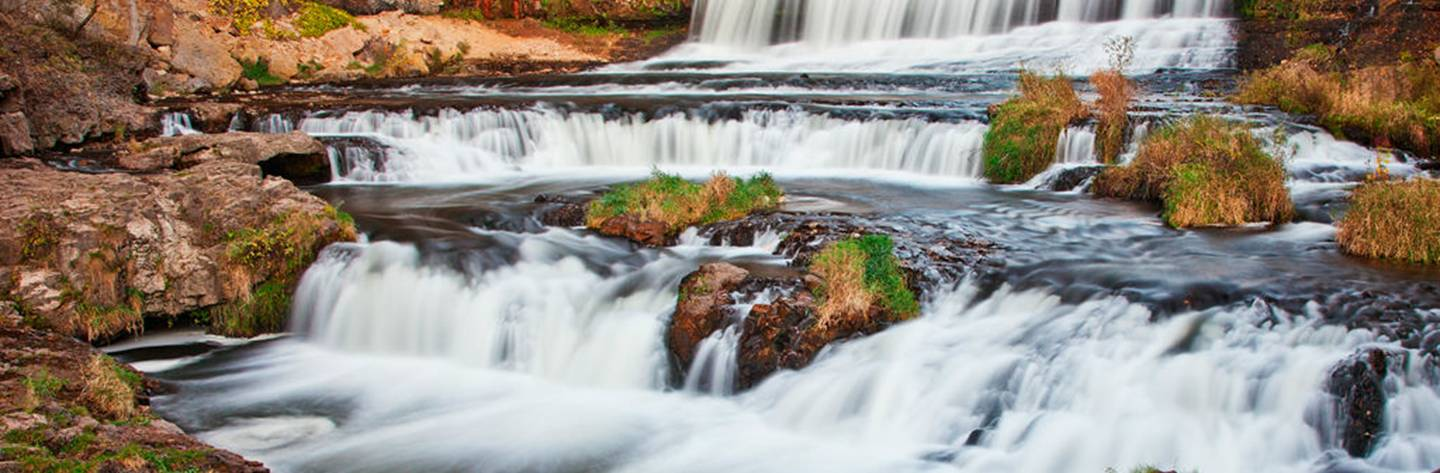 Jeff Bucklew captures the spectacular cascading Willow Falls located within Willow River State Park.