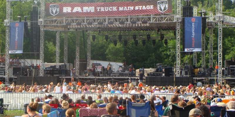 Country Jam offers three solid days of country music's top entertainers.