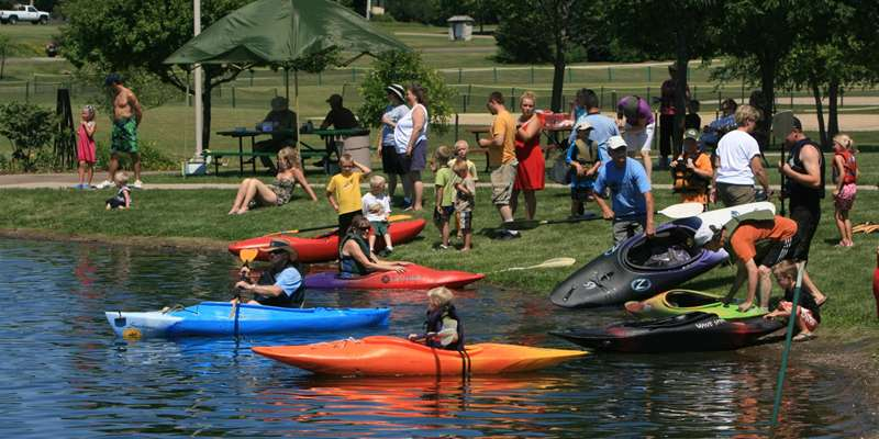 Kayaking is the perfect family fun activity for a warm summer day.
