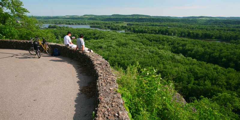 This scenic overlook at Nelson Dewey State Park can be found northwest of Cassville, near the Mississippi River.