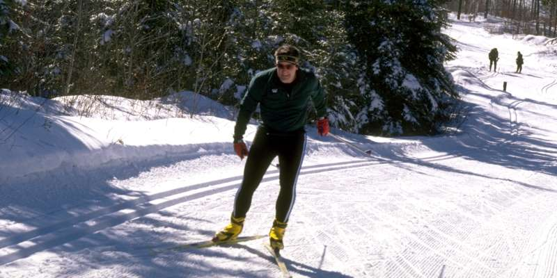 The Lakewood Ski Trail in Lakewood winds through beautiful, wooded settings with rolling hills.