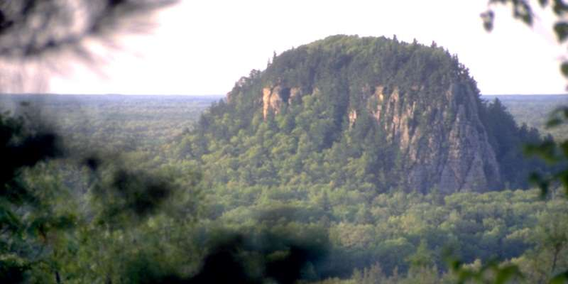 Roche-A-Cri State Park is in Wisconsin's Central Sand Plains, an area that was covered by Glacial Lake Wisconsin more than a million years ago. The Roche-A-Cri mound was an island in the lake.