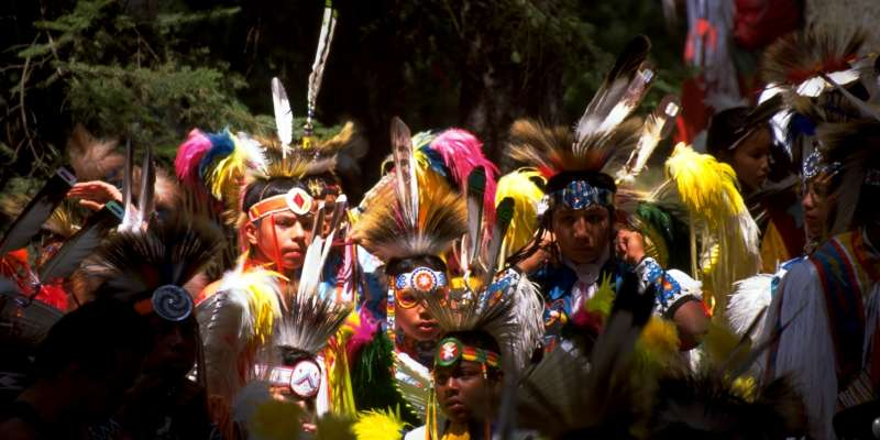 Menominee Pow-wow dancers.