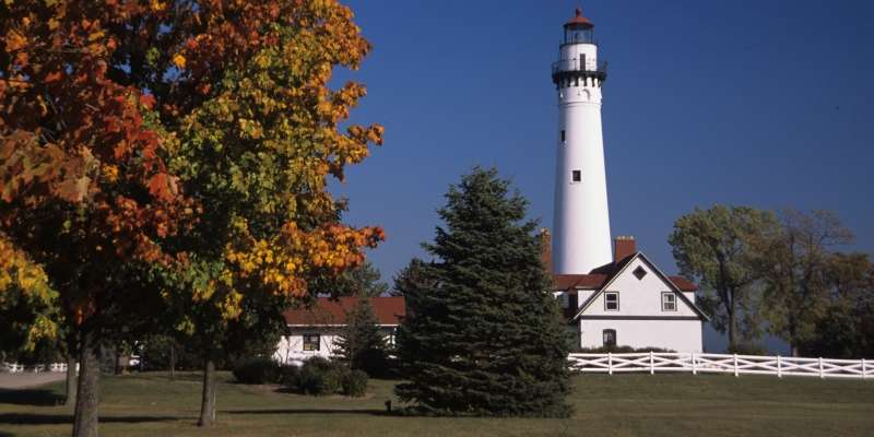 The Wind Point Lighthouse in Racine is believed to be one of the oldest and tallest lighthouses still operating on the Great Lakes.