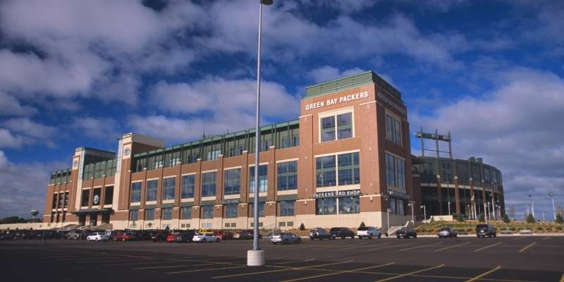 Lambeau Field is home to the Green Bay Packers.