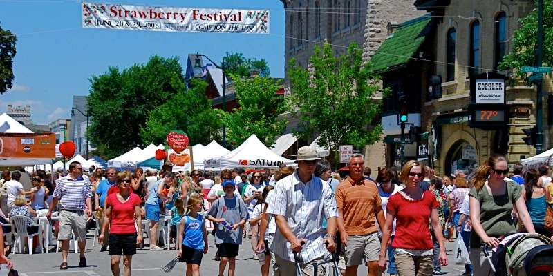 Cedarburg Strawberry Festival takes place every summer throughout charming downtown Historic Cedarburg.