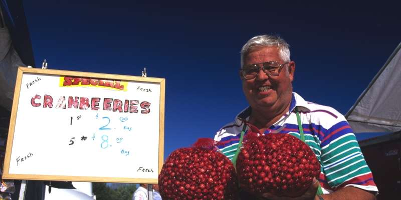 "You can find the World's Largest Cranberry Festival every fall in Warrens. It's a ""Berry"" Good Time!"