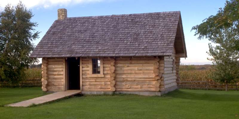 "This reconstructed log cabin in Pepin is a replica of the now-famous ""Little House in the Big Woods"" by Laura Ingalls Wilder."