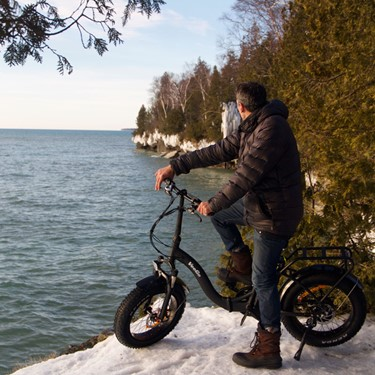 Cave Point Ice Castles E-Bike Tour Discount