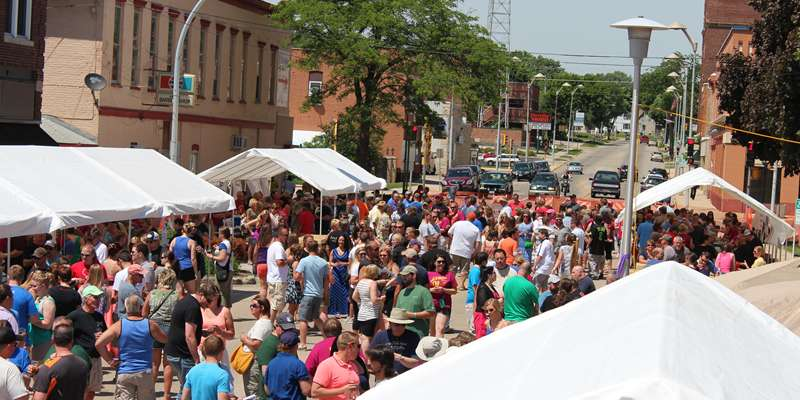 A huge crowd on hand for the 2014 Taste of Wisconsin
