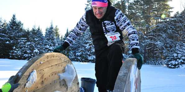 Obstacle #14: Snow Spool Crawl