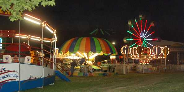 Enjoy the midway at the fair.