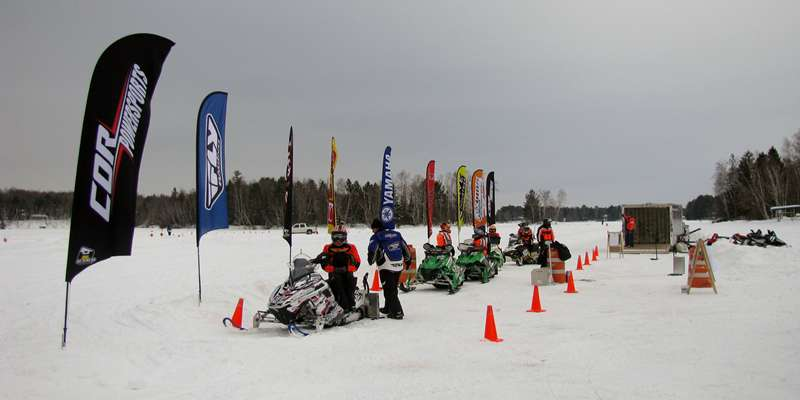 Cor PowerSports Snowmobile Races on Wilson Lake