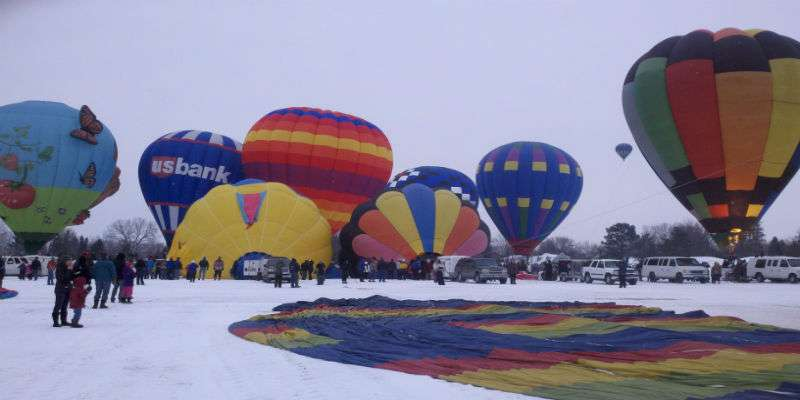 Hudson Hot Air Affair Launch