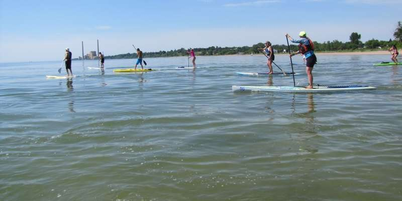 EOS Sup N' Surf Event on Lake Michigan, Sheboygan, WI
