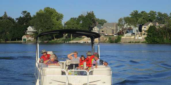 Pontoon Rides of the lake are a hit during Lake Days.