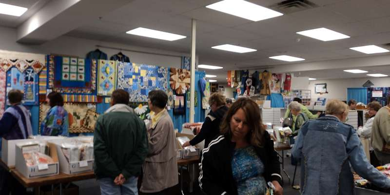 Displays abound at Nancy's Notions Sewing Weekend *courtesy Nancy Zieman