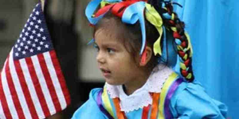 Lluvia Chavez celebrating two cultures at   Fiesta Cultural Latinoamericana, May 2011.  Photo by Colleen Grotelueschen.