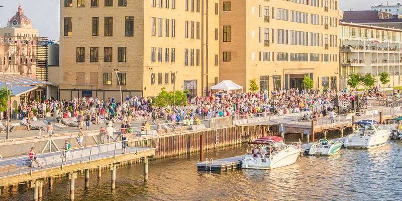 Spend an evening on the CityDeck enjoying entertainment at the Fridays on the Fox event. Photo by Paul Gass.