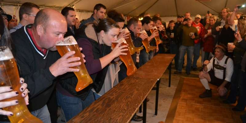 Das Boot Relay at Heidel House Resort's Oktoberfest